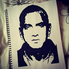 Eminem stencil. One of the first stencils I ever did.