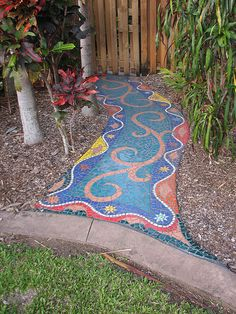 Colorful garden pathway!