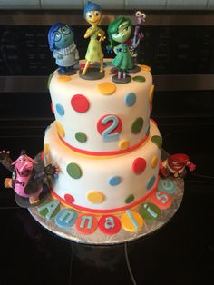 Inside out birthday cake (fondant)