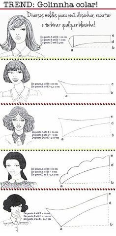 Pattern Making Styled Collars Diy Clothing, Sewing Clothes, Clothing Patterns, Sewing Patterns, Sewing Hacks, Sewing Tutorials, Sewing Crafts, Sewing Projects, Techniques Couture