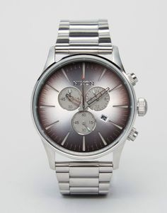 Get this Nixon's watch now! Click for more details. Worldwide shipping. Nixon Sea Ranch Sentry Chronograph Watch In Stainless Steel - Silver: Watch by Nixon, Stainless steel strap and case, Three hand movement, Sub-dial, chronograph design, Date window, Dash indices, Single crown to side, Twin pushers, Deployment clasp fastening, 10ATM: water resistant to 100 metres (330 feet). Born out of a frustration at the lack of quality watches on the market, Nixon offer watches that place emphasis on…