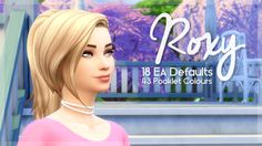 Roxy Hair ~ SimBlob