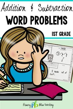 This set of 120 math word problems for first grade is guaranteed to get your students accurately solving word problems in no time. All addition and subtraction word problem types are included. It's so easy and effective to use. Grab your set today! First Grade Words, First Grade Lessons, First Grade Activities, Teaching First Grade, First Grade Math, Math Lessons, Second Grade, Math Fact Practice, Social Skills For Kids