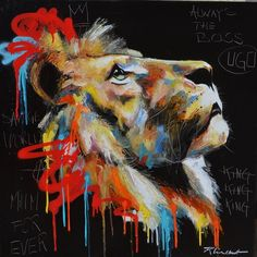 Skill Artist Pure Hand-painted High Quality Animal Oil Painting On Canvas Beautiful Lion head Painting For Home Decorative Art. Lion Painting, Oil Painting On Canvas, Canvas Art, Graffiti Art, Lion Art, Art Sketchbook, Animal Paintings, Art Pictures, Photos