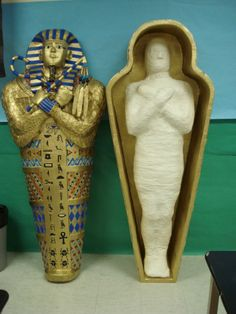 Paper Mache Mummy and Sarcophagus