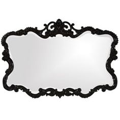 Talida Black 1 Inch Rectangle Mirror Howard Elliott Collection Rectangle Mirrors Home Deco