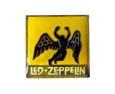 """vintage LED ZEPPELIN Swan Song heavy metal enamel pin button pinback badge by VintageTrafficUSA  20.00 USD  A Beautiful vintage Led Zeppelin pin! Excellent condition. Measures: approx 1"""" These rare pins are proven to win you friends and influence people! Add inspiration to your handbag tie jacket backpack hat or wall. Have some individuality = some flair! You need to act now while these limited gems are still offered! 20 years old hard to find vintage high-quality cloisonne lapel/pin…"""