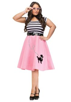 Plus Size Poodle Skirt Dress