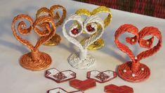 Настольная плетёная валентинка