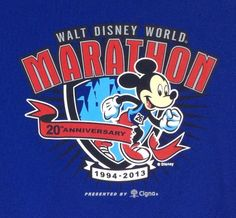 L #Disney World Marathon 2013 T-Shirt Mickey Mouse Double Dry Training Tee L/S #runDisney #MickeyMouse
