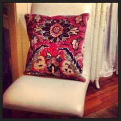 Photo by Royal Bohemian- Throw Pillows with Antique Persian Rugs, https://www.facebook.com/Royal.Bohemian