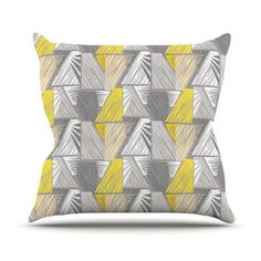KESS InHouse Linford by Gill Eggleston Outdoor Throw Pillow