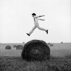 Rodney Smith - Don Jumping Over Hay Roll, Monkton, Maryland, 1999
