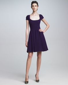 Scoop-Neck Dress  Zac Posen