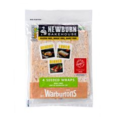Warburtons Seeded Wraps : Gluten Free ~ For more treasures like this - 'Like us' on http://fb.me/Biskgetz to help our community grow! Biskgetz.com #Biskgetz @Biskgetz #IntoGlutenFree - celiac disease, coeliac disease, gluten free diet, wheat free diet, gluten intolerance, gluten sensitivity, gluten allergy.