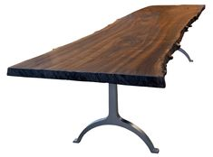 Decoration, Rustic Style Steel Table Base Design: How To Make A Table With Steel Table Legs Dining Room Table Legs, Metal Base Dining Table, Walnut Dining Table, Glass Dining Table, Round Dining Table, A Table, Table Bases, Trestle Table, Banquette Table