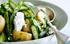 Opskrift på salat med nye kartofler og grønne asparges