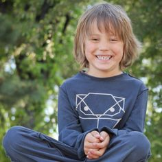 Kids Organic Cotton Long Sleeve T-Shirt Origami by TeresKidsShop
