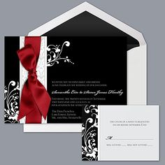 Forever Color - Black- Invitation First choice of invites... very classic elegance...
