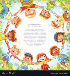 Multinational group of children holding hands. Below view of little friends looking at camera and smiling. Camera angle from bottom to top. Template for advertising brochure. Ready for your message Children Holding Hands, Kids Hands, Cartoon Drawings, Animal Drawings, Holding Hands Drawing, Yearbook Covers, Futuristic Armour, Hand Illustration, Sewing For Beginners