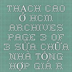 THẠCH CAO Ở HCM Archives - Page 3 of 3 - SỬA CHỮA NHÀ TỔNG HỢP GIÁ RẺ Ở TẠI HCM