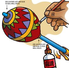 Native American Gourds Crafts | Make A Native American Rattle -- Boys' Life magazine