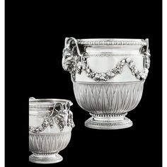 Important European Silver, Gold Boxes Vertu. View auction details, art exhibitions and online catalogues bid, buy and collect contemporary, impressio. Vintage Silver, Antique Silver, Silver Centerpiece, Joseph, Garden Urns, Auguste, Things To Buy, Stuff To Buy, Gold Box