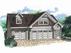 3 bay garage with apartment plans | Plan 032G-0004 - Find Unique House Plans, Home Plans and Floor Plans ...