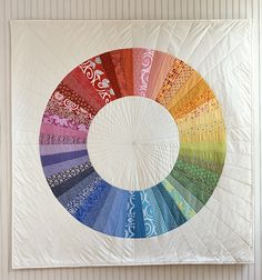 """the purl bee """"color-wheel quilt"""""""