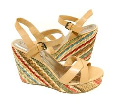 B.F.T. by Barefoot Tess 'Cabos' Wedge (Natural)