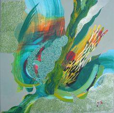 "Saatchi Art Artist Iwona Liegmann; Painting, ""Sunset"" #art"