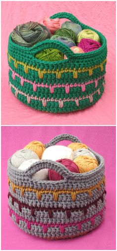 I am going to show you some #crochet #basket patterns which will increase your home décor!Spikes Yarn Basket