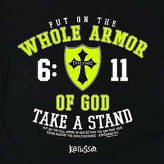 """From an early age you can teach your kids the importance of putting on the armor of God with our Kerusso Kids Whole Armor tee. This shirt references Ephesians 6:11 """"Put on the full armor of God, so th"""