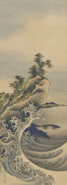 """Breaking Waves"" by Katsushika Hokusai (1760-1849). Japan, Edo period, 1847. Freer