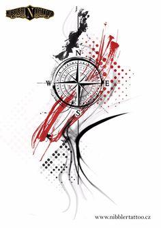 Small Star Tattoos, Tattoos For Guys, Tattoo Sleeve Designs, Sleeve Tattoos, Arte Trash Polka, Tattoo Studio, Tatuagem Trash Polka, Splatter Tattoo, Tribal Cross Tattoos