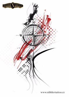 Compass Tattoo Design, Cross Tattoo Designs, Tattoo Sleeve Designs, Sleeve Tattoos, Small Star Tattoos, Tattoos For Guys, Arte Trash Polka, Tattoo Studio, Tatuagem Trash Polka