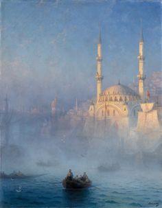 catonhottinroof: Ivan Ayvazovsky  View of the Port of Constantinople