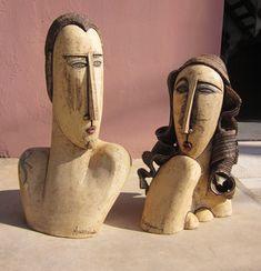 γλυπτά φιγούρες τοίχος Figure Sculpture   Anastasaki Céramique