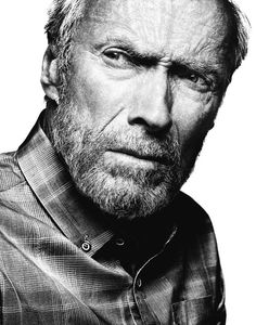 Portrait Clint Eastwood - American actor, film director, producer and composer. Photo by Platon Clint Eastwood, Fotografia Pb, Foto Face, Celebrity Portraits, Black And White Portraits, Portrait Inspiration, Film Director, Best Actor, Famous Faces