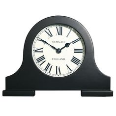 Newgate Mantel Clock, Black, Small