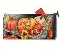 MailWraps Welcome Fall Pumpkins Mailbox Cover #01224 by MailWraps >  Part of Magnet Works collection of matching flags, mailbox covers, and yard signs;Attaches to metal mailboxes with magnetic strips. Adapter kit for non metal mailboxes sold separately.;Fits ... Check more at http://farmgardensuperstore.com/product/mailwraps-welcome-fall-pumpkins-mailbox-cover-01224-by-mailwraps/