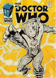 Doctor Who (Cyberman Comic) Art Print Poster