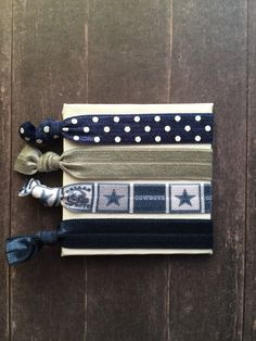 Dallas Cowboys  Polka Dots FOE Hair Ties by SimplyCraftyCo on Etsy