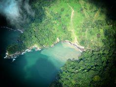 Prise de vue Aérienne. Côte pacifique du Costa Rica