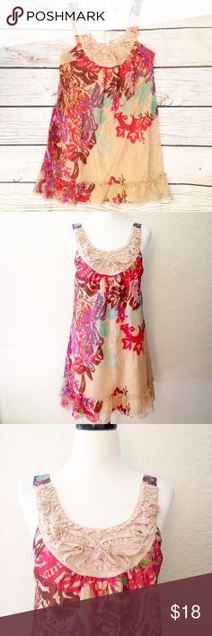 BOGO 🌟 Floral Printed Chiffon Tunic Dress faeb920d6