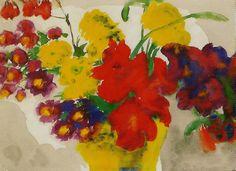 Emil Nolde,Gladiolen en Chrysanten 1930