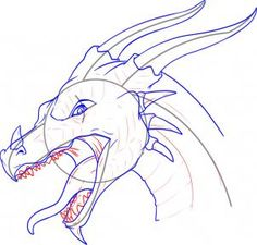 how to draw a dragon head step 10