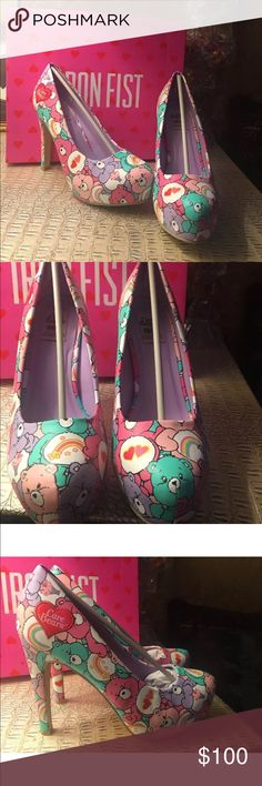 Iron fist care bear Multicolored platform heels Iron fist multi colored platform high heels size 6 new in box w tags never been used Iron Fist Shoes Platforms