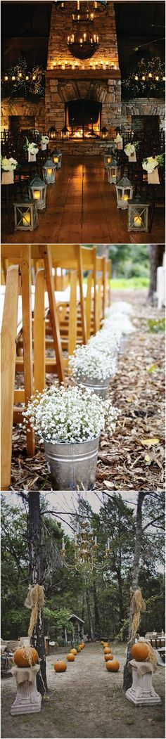 Fall Weddings » 29 Awesome Wedding Aisle Decorations for Fall    Wedding