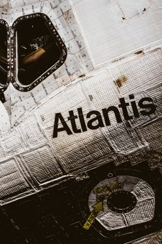 Space shuttle Atlantis looking rather gritty